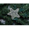 Christmas Ornament, Star, beige